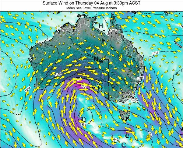 South-Australia Surface Wind on Monday 30 May at 3:30pm ACST