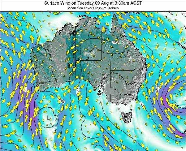 South-Australia Surface Wind on Wednesday 29 May at 9:30pm CST