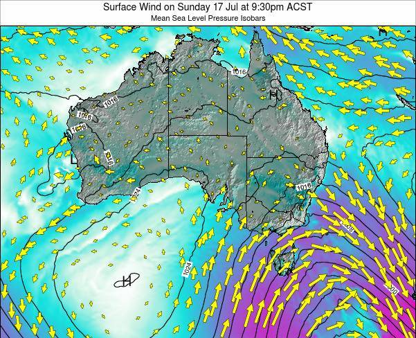 South-Australia Surface Wind on Monday 28 Apr at 3:30am CST