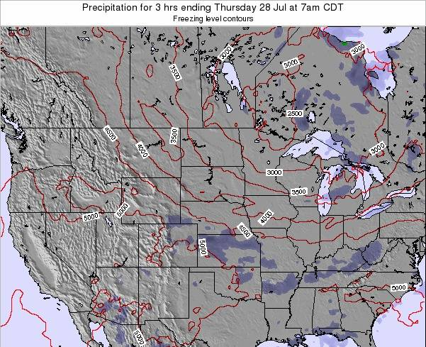 North-Dakota Precipitation for 3 hrs ending Tuesday 21 May at 1pm CDT map