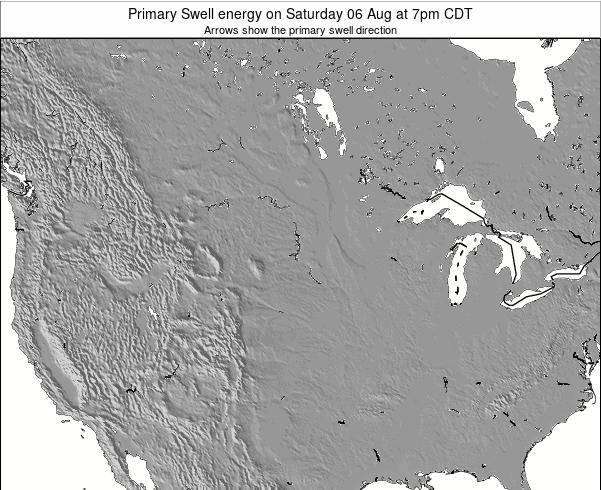 South-Dakota Primary Swell energy on Monday 16 Jul at 1pm CDT map