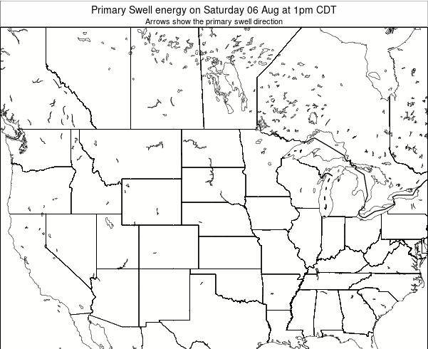 South-Dakota Primary Swell energy on Saturday 17 Mar at 7pm CDT map