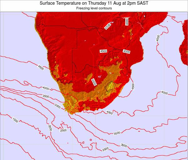Swaziland Surface Temperature on Friday 31 May at 2pm SAST