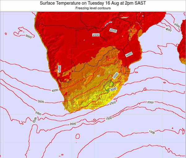 Swaziland Surface Temperature on Thursday 30 May at 8am SAST