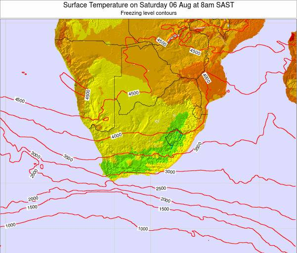 Swaziland Surface Temperature on Wednesday 22 May at 2pm SAST