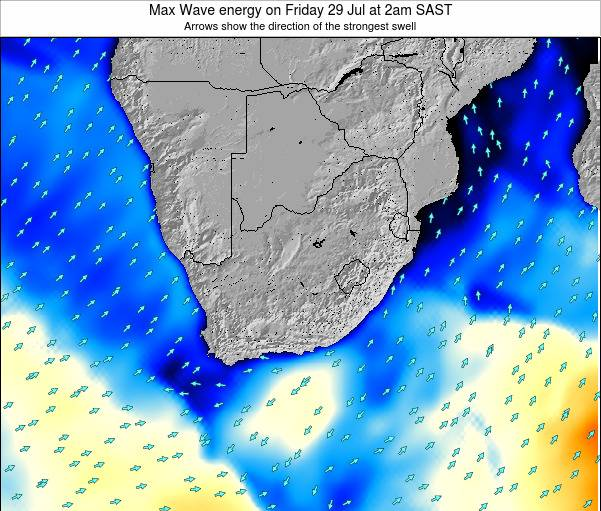South Africa Max Wave energy on Thursday 13 Mar at 8pm SAST
