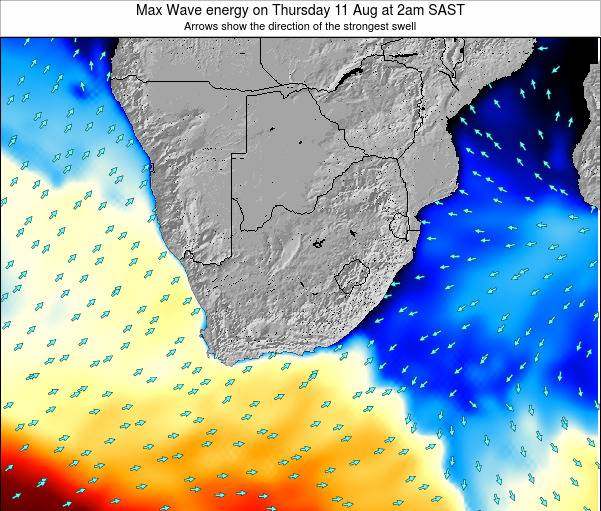 South Africa Max Wave energy on Wednesday 29 Nov at 2am SAST map
