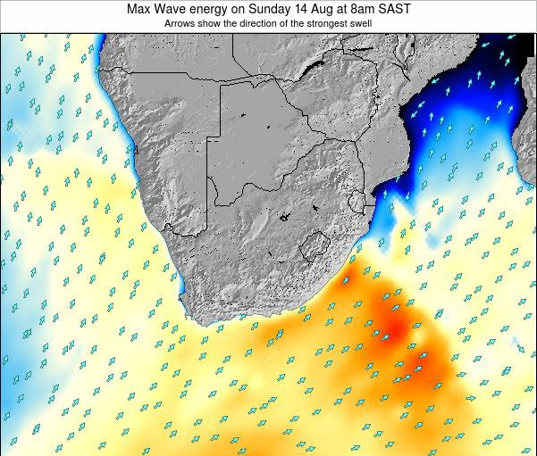 South Africa Max Wave energy on Wednesday 29 Nov at 8pm SAST map