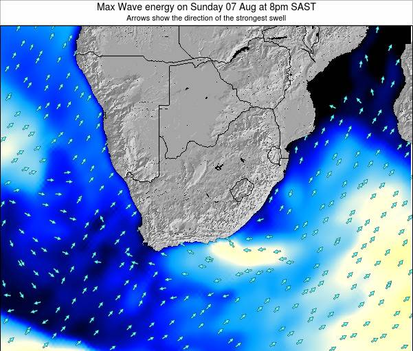 South Africa Max Wave energy on Friday 25 Apr at 8pm SAST