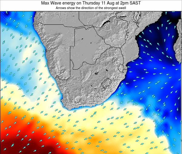 South Africa Max Wave energy on Monday 28 Apr at 8pm SAST