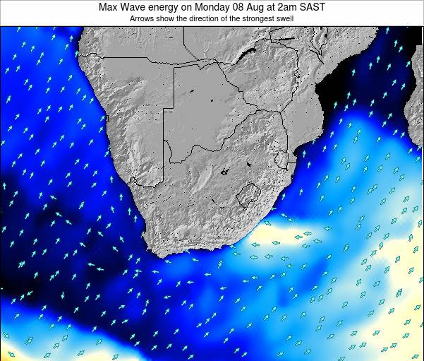 South Africa Max Wave energy on Sunday 26 May at 2am SAST