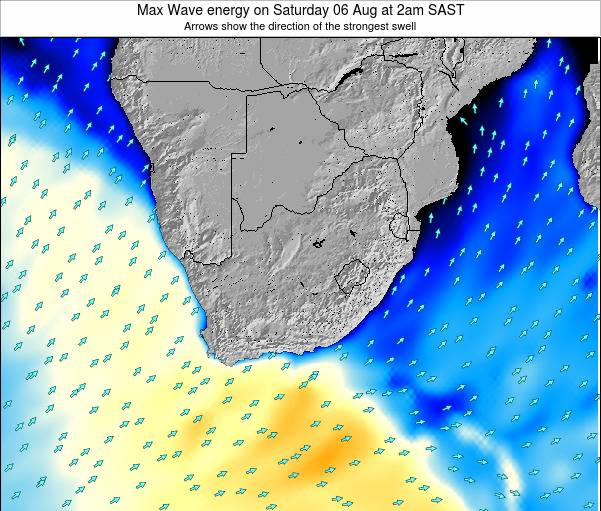South Africa Max Wave energy on Thursday 27 Sep at 8am SAST map