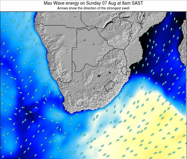 South Africa Max Wave energy on Tuesday 17 Jul at 2am SAST map