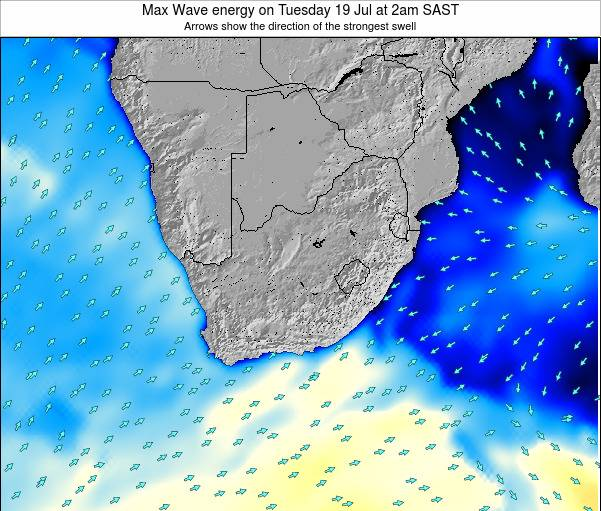 South Africa Max Wave energy on Thursday 23 May at 8pm SAST