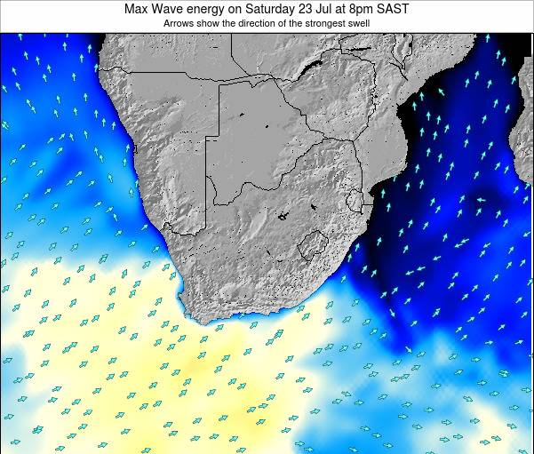 South Africa Max Wave energy on Saturday 21 Oct at 2pm SAST