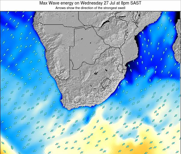 South Africa Max Wave energy on Sunday 23 Jun at 8am SAST