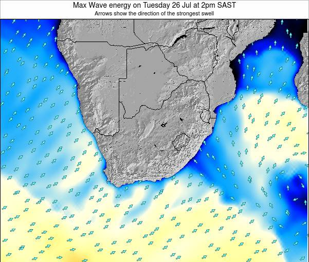 South Africa Max Wave energy on Friday 14 Mar at 2am SAST