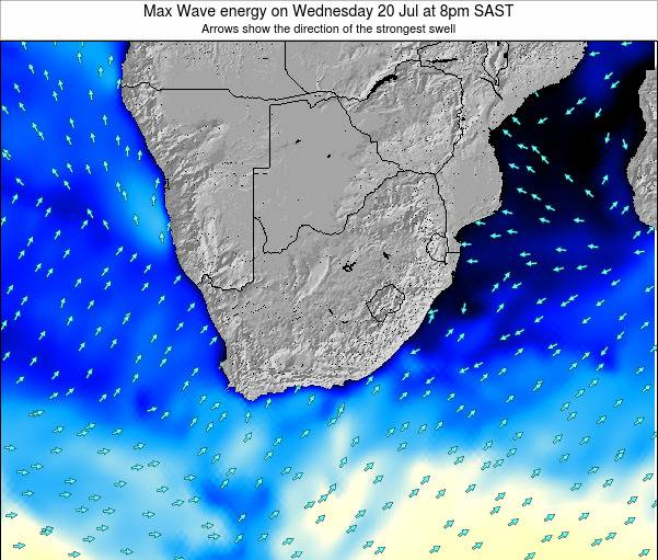 South Africa Max Wave energy on Sunday 27 Apr at 8pm SAST
