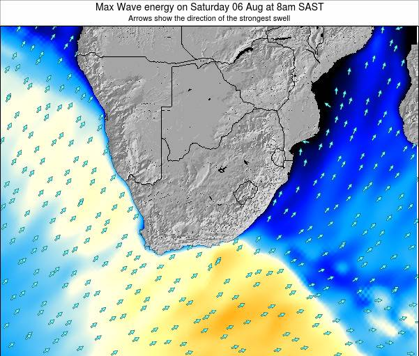 Swaziland Max Wave energy on Tuesday 31 May at 2am SAST