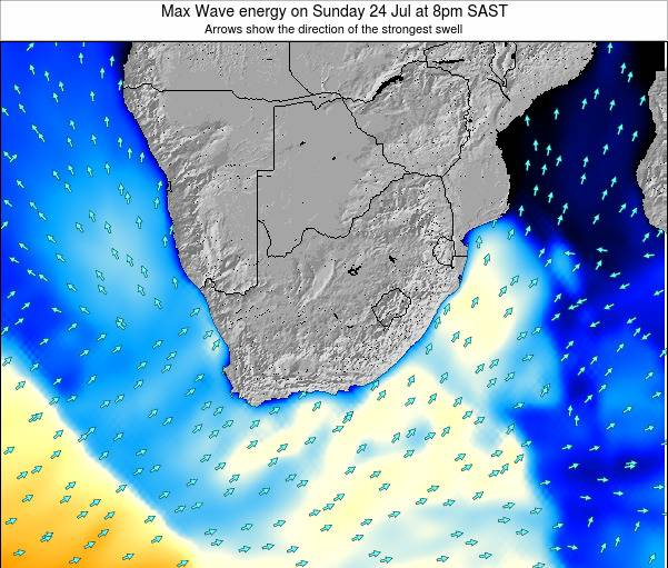 Swaziland Max Wave energy on Saturday 26 Jul at 2am SAST