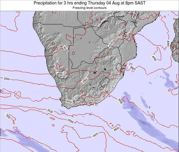 South Africa Precipitation for 3 hrs ending Monday 20 May at 2am SAST