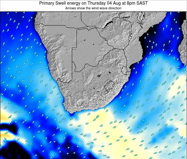 South Africa Primary Swell energy on Thursday 23 May at 2pm SAST