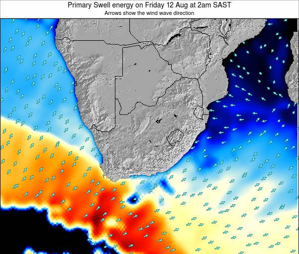 South Africa Primary Swell energy on Friday 13 Dec at 2am SAST