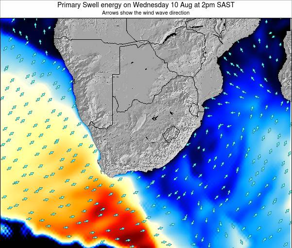 South Africa Primary Swell energy on Saturday 26 Apr at 2pm SAST