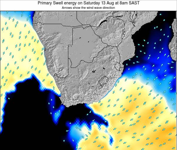South Africa Primary Swell energy on Tuesday 29 Apr at 8am SAST