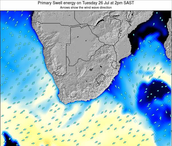 South Africa Primary Swell energy on Monday 28 Jul at 8pm SAST
