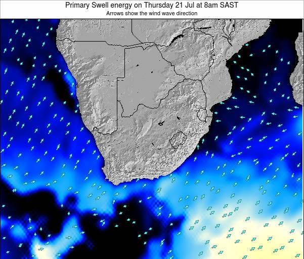 South Africa Primary Swell energy on Thursday 12 Dec at 8am SAST