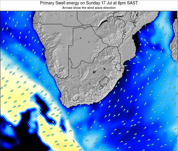 South Africa Primary Swell energy on Monday 20 May at 8pm SAST