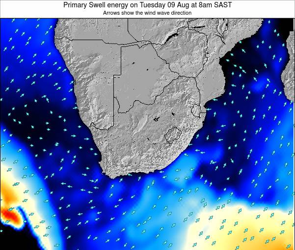 South Africa Primary Swell energy on Friday 24 Oct at 8pm SAST