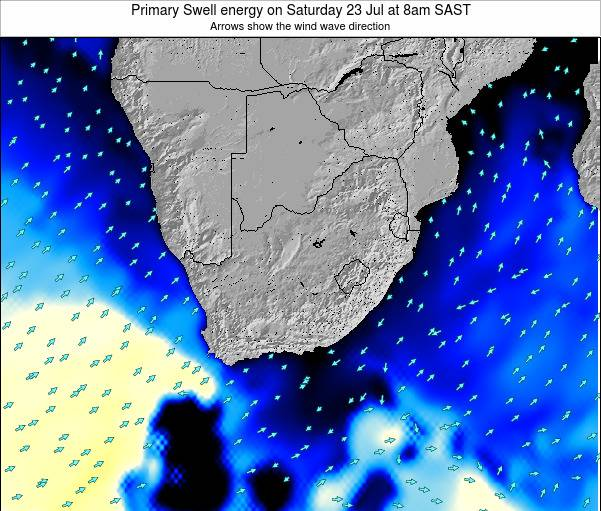 South Africa Primary Swell energy on Tuesday 10 Dec at 2pm SAST