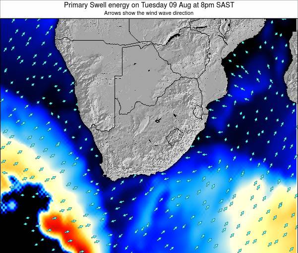 South Africa Primary Swell energy on Monday 21 Apr at 8am SAST