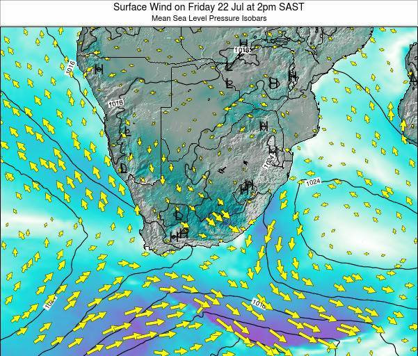 Swaziland Surface Wind on Saturday 02 Aug at 8pm SAST