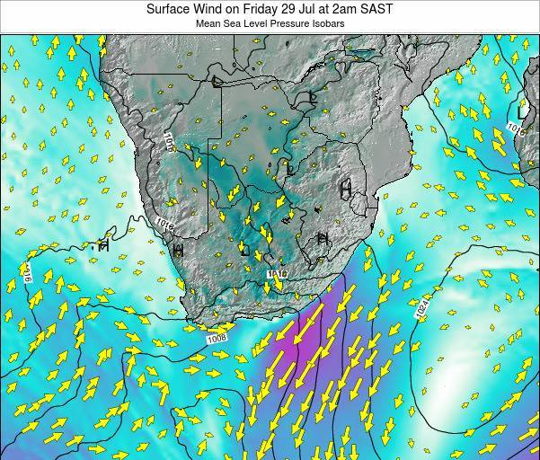 Swaziland Surface Wind on Thursday 30 May at 8pm SAST