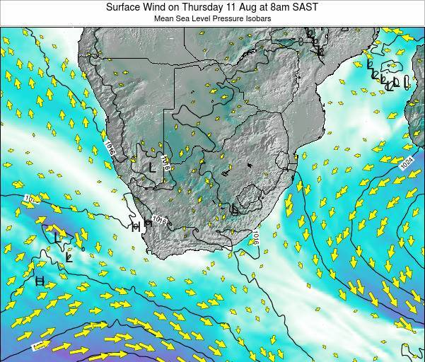 Swaziland Surface Wind on Friday 31 May at 2pm SAST