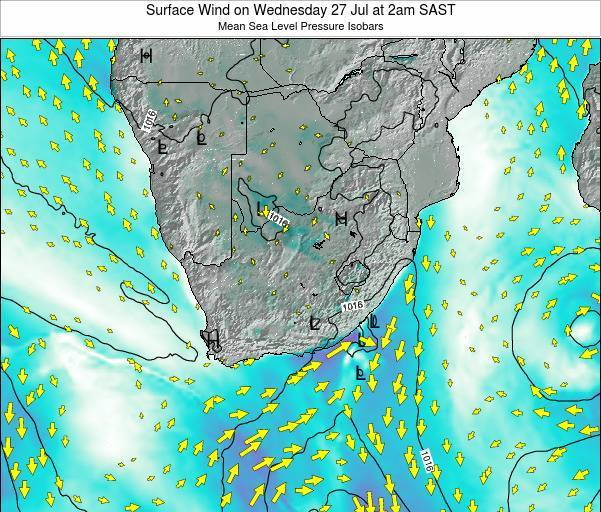 Swaziland Surface Wind on Thursday 10 Sep at 2am SAST