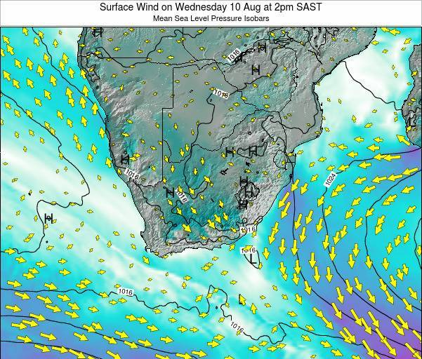 Swaziland Surface Wind on Friday 26 Sep at 2am SAST