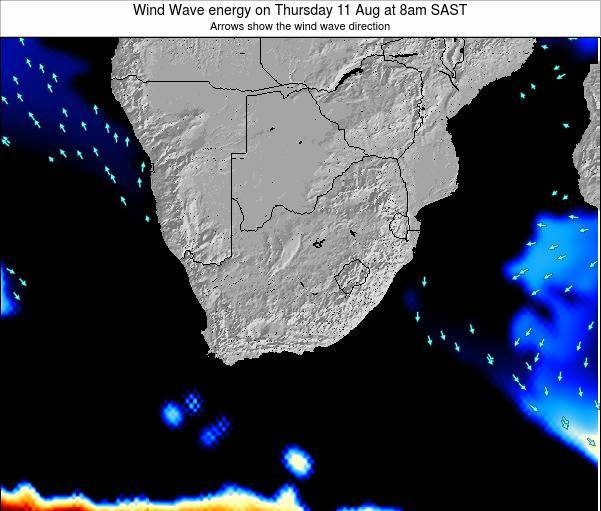 South Africa Wind Wave energy on Monday 28 Apr at 2pm SAST
