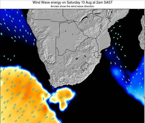 South Africa Wind Wave energy on Wednesday 03 Dec at 2am SAST