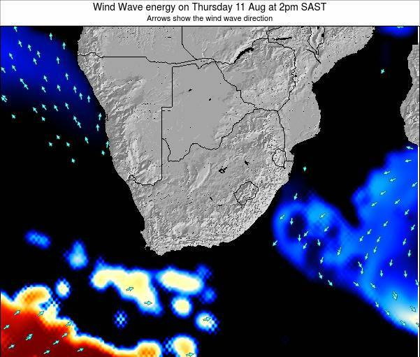 South Africa Wind Wave energy on Saturday 26 Aug at 8pm SAST