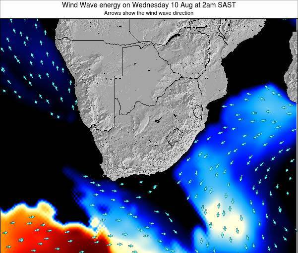 South Africa Wind Wave energy on Wednesday 05 Nov at 8am SAST