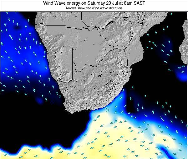 South Africa Wind Wave energy on Wednesday 29 May at 8am SAST