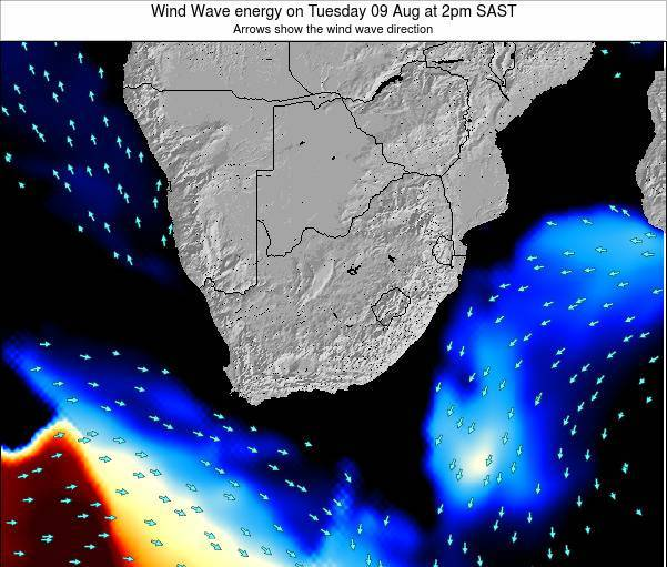 South Africa Wind Wave energy on Sunday 03 Aug at 8pm SAST