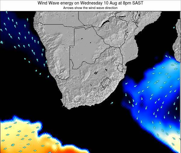 South Africa Wind Wave energy on Tuesday 29 Jul at 2pm SAST