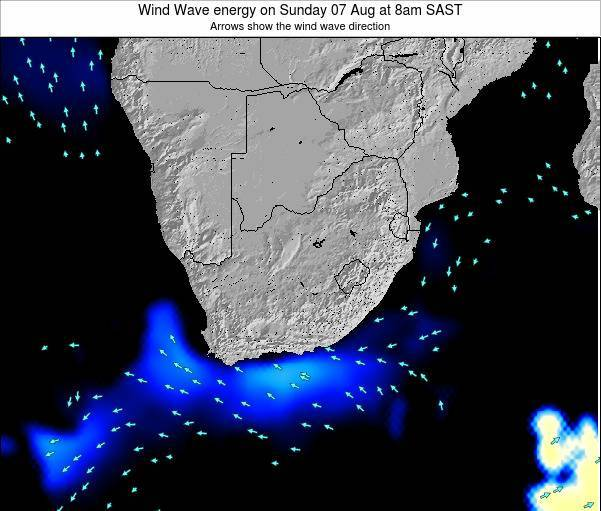 South Africa Wind Wave energy on Wednesday 30 Apr at 2am SAST