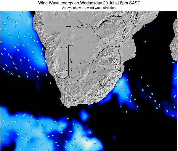South Africa Wind Wave energy on Monday 17 Mar at 8pm SAST