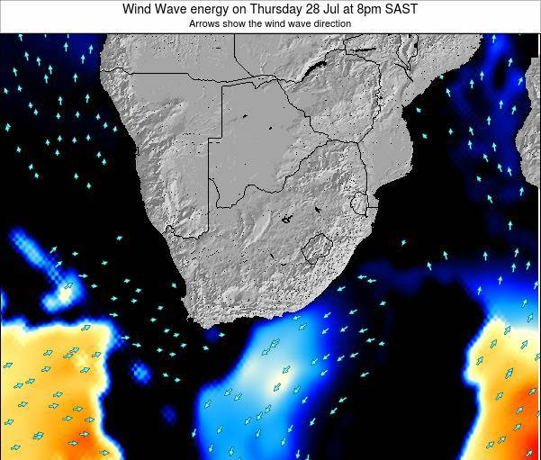 South Africa Wind Wave energy on Monday 04 Aug at 8am SAST